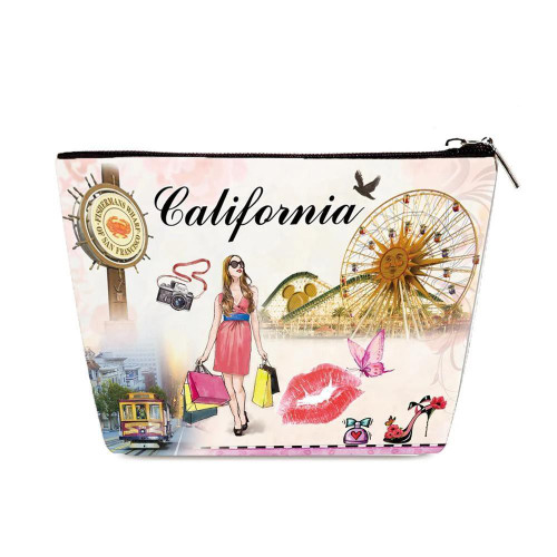 OH Fashion Cosmetic Bag California Chic