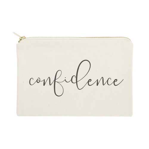 Confidence Cotton Canvas Cosmetic Bag