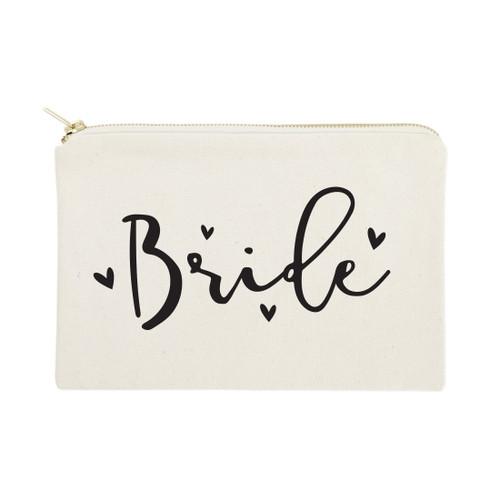 Bride Cotton Canvas Cosmetic Bag