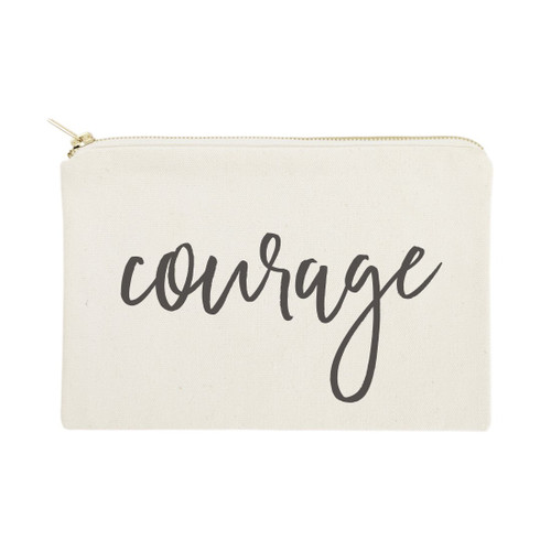 Courage Cotton Canvas Cosmetic Bag