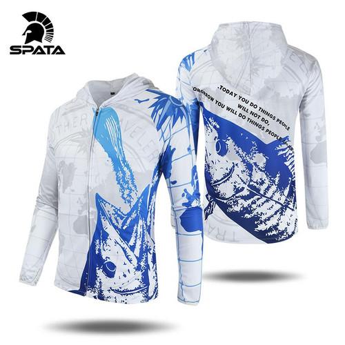 Long Sleeve Summer Fishing Hoodies Men's Jacket