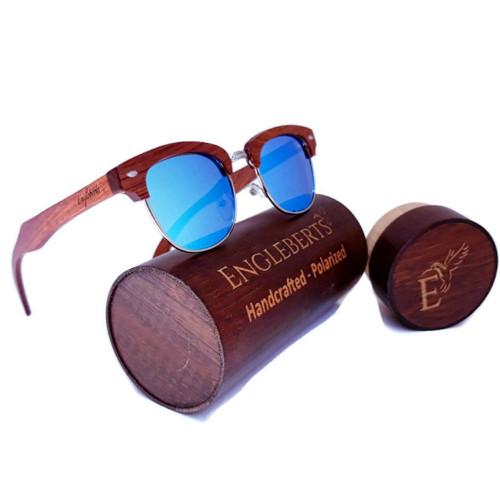 100% Real Sandalwood Sunglasses Ice Blue Polarized