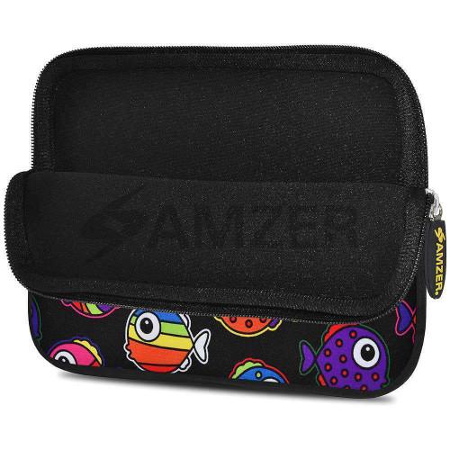 10.5 Inch Neoprene Zipper Sleeve Pouch Tablet Bag - Rainbow Fish