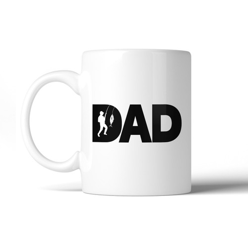 Dad Fish Unique Design Mug Funny Fishing