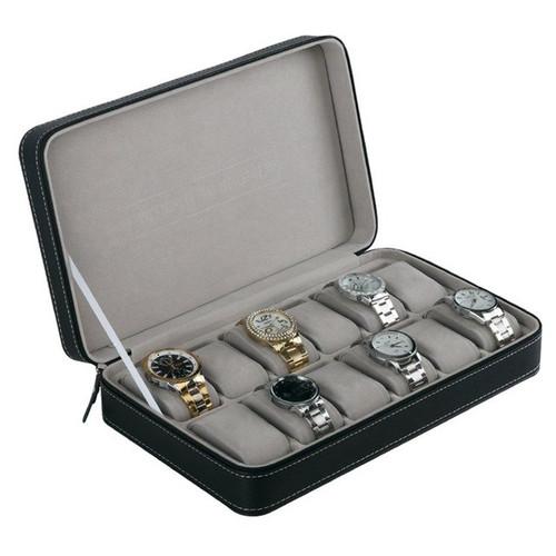 12 Slots Watch Box Storage Organizer With Zipper