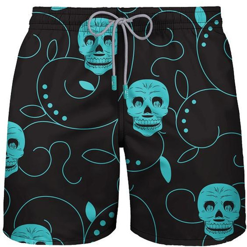 "Mid Length Swim ""DA SCULL"" Black"