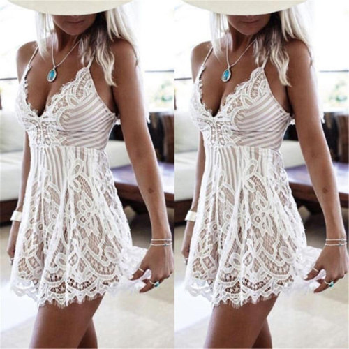 Ladies strapless lace suspender skirt