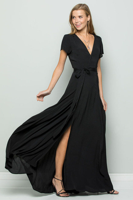 Flowy Maxi Dress - Black