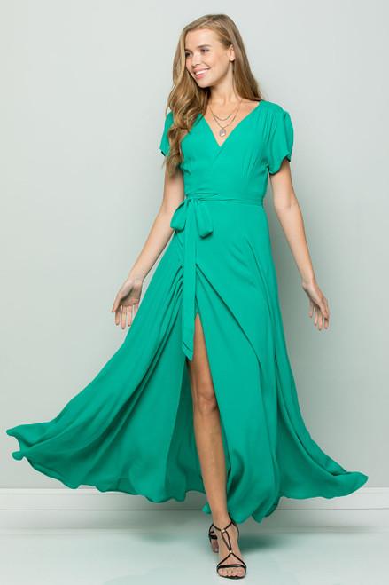 Flowy Maxi Dress - Emerald