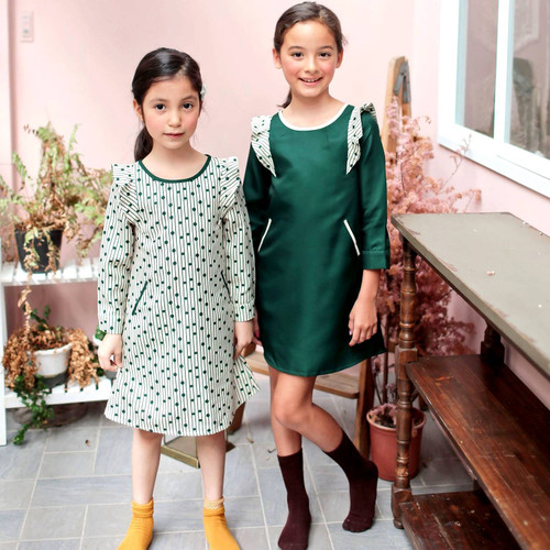 (Mommy & Me) Magic Green Bean Dress