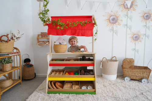 2 IN 1 Children's Shop & Theater Play Set