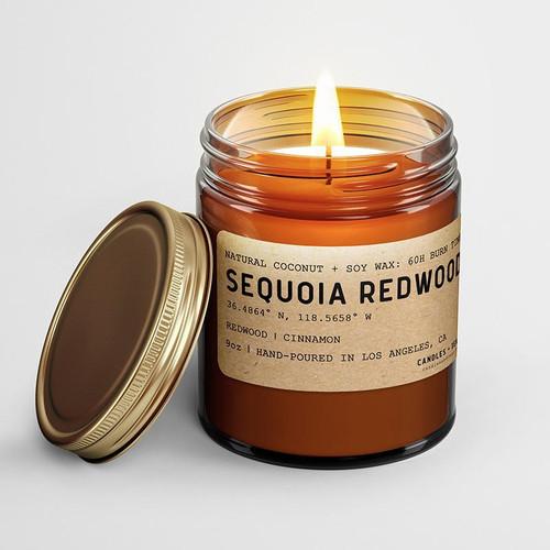 Sequoia Redwood: California Scented Candle  (Redwood, Cinnamon)