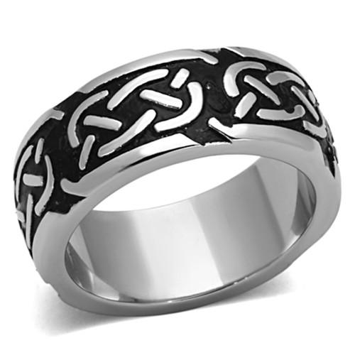 Men's Stainless Steel Epoxy Rings Design V