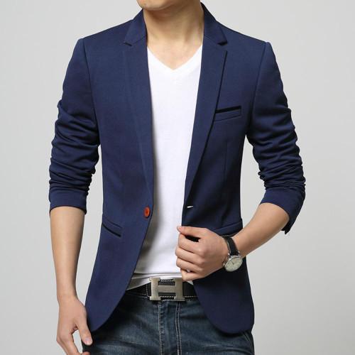 Men's One Button Slim Fit Blazer