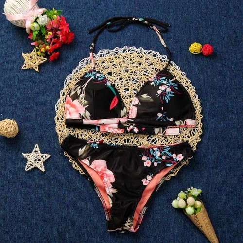 Popular Sexy Women's Push-up Padded Bra Bikini Set