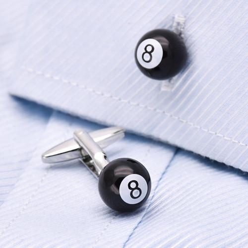 Black 8 Ball Cufflinks