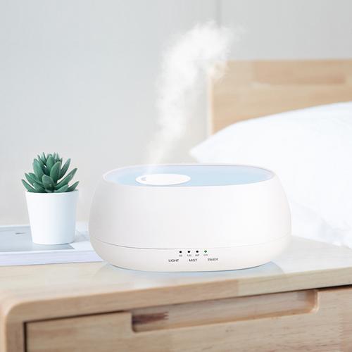 Ultrasonic intelligent Fragrance lamp air humidifier (White)
