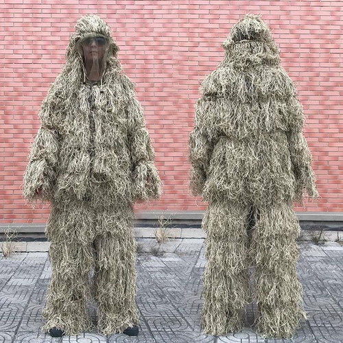 3D Withered Grass Ghillie Suit 4pc Sniper Military Tactical