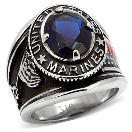 High polished (no plating) Stainless Steel Ring Marines