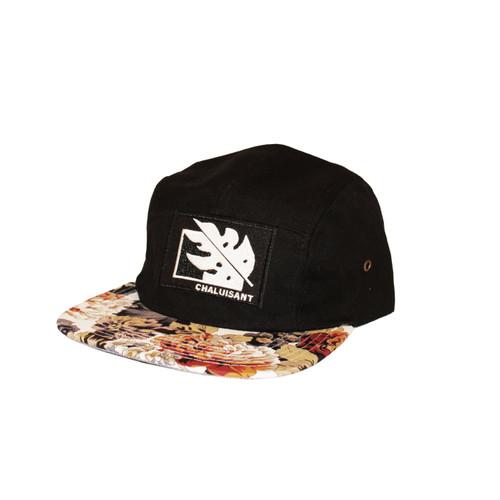 Chaluisant Black & Floral Print Cap