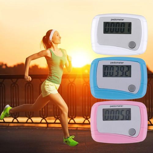 Portable Mini Digital LCD Running Step