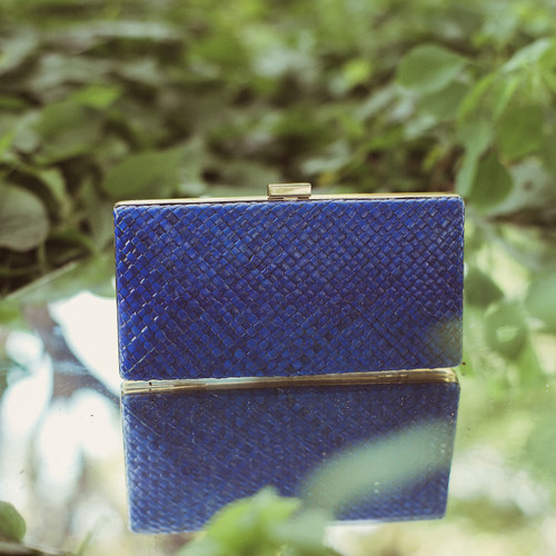 Gitta Royale Handwoven Straw Clutch