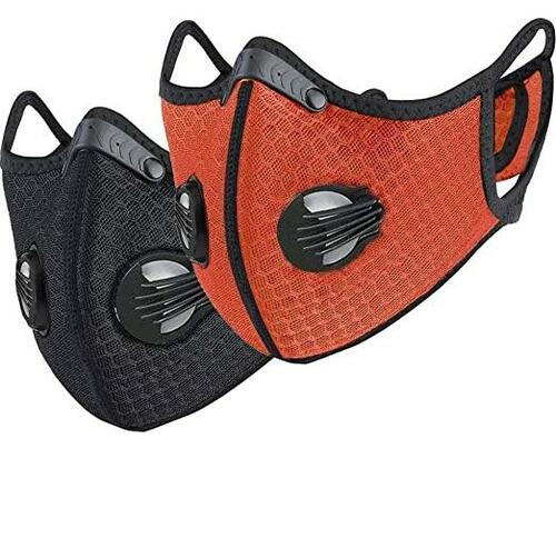 Sport Mask w/Exhalation Valves & Activated Carbon Filter