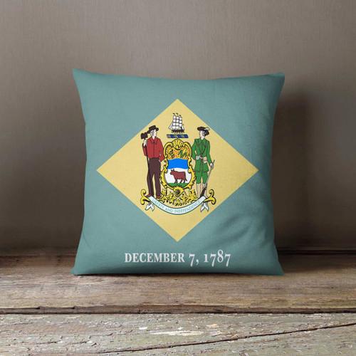 Delaware State Pillowcase Delaware Flag USA Decor