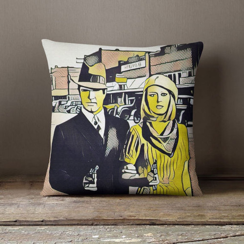 Bonnie And Clyde Decorative Throw Pillow Cover