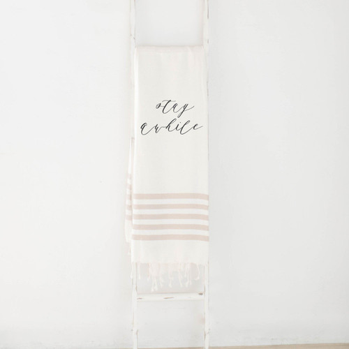 Stay Awhile Decorative Throw Blanket