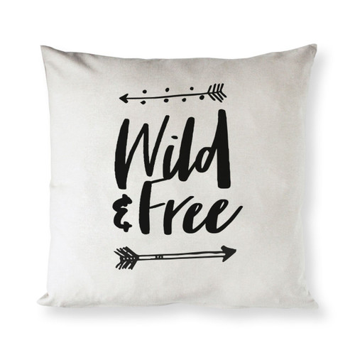 Wild & Free Baby Cotton Canvas Pillow Cover