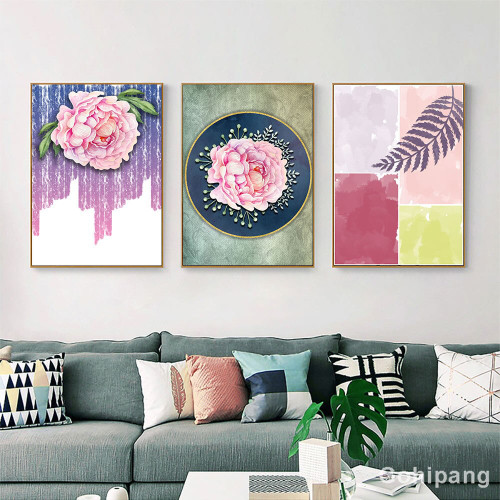 Abstract Painting Canvas Art Print Flower Painting