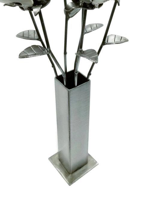 Metal, Welded Bud, Steampunk Vase, Welded Roses
