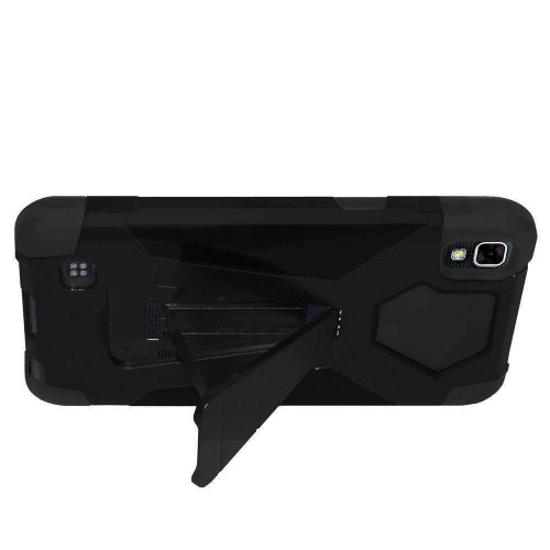 AMZER Dual Layer Hybrid KickStand Case for LG X Power - Black/Black