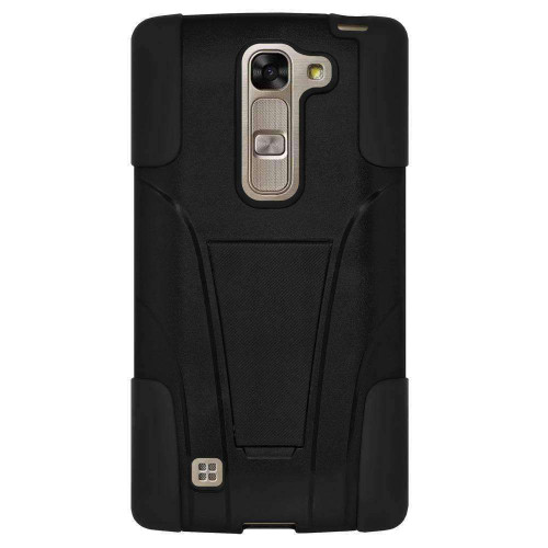 AMZER Double Layer Hybrid KickStand Case for LG Magna H502F - Black/J