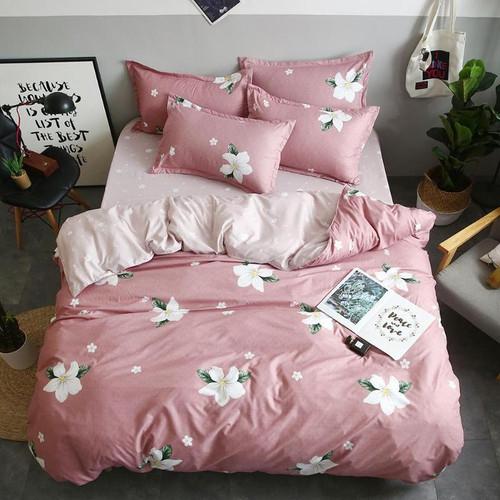 4pc Bedding Set Flower Printed Quilt Duvet Cover