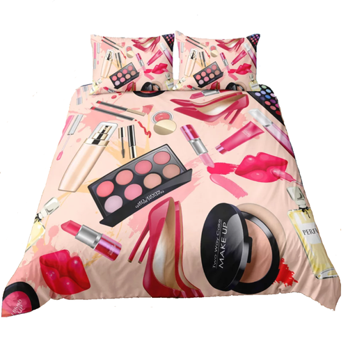Makeup Theme Bedding With Pillow Cases Twin Full Queen