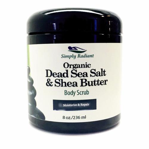 Organic Dead Sea Salt & Shea Butter Body Scrub