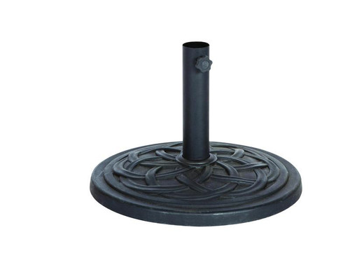Bond  Black Envirostone Umbrella Base 17.7 in. L x 17.7 in. W x