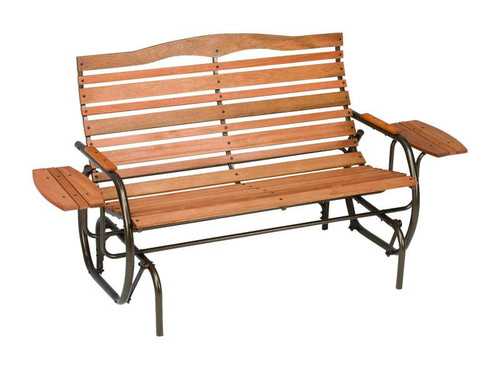 Country Garden 2 person Steel/Wood Double Glider