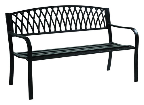 Living Accents Grass Back Park Bench Steel  33.46 in. H x 50 in. L