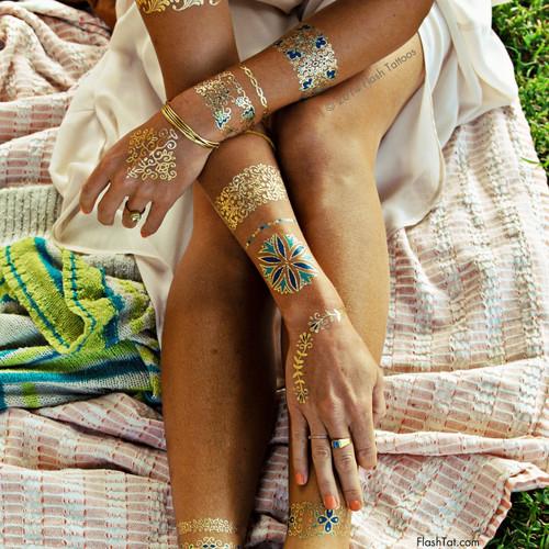 Isabella Metallic Temporary Tattoos Pack