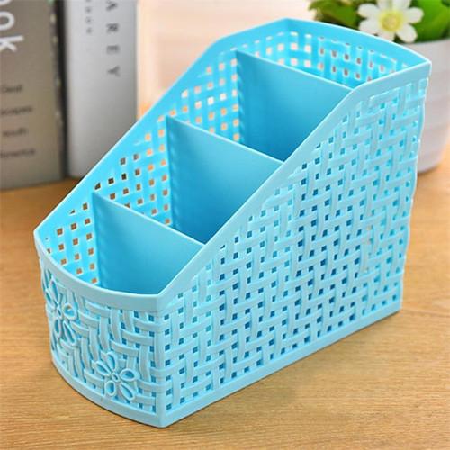 4 Grids Desk Storage Basket Office Organizer Box