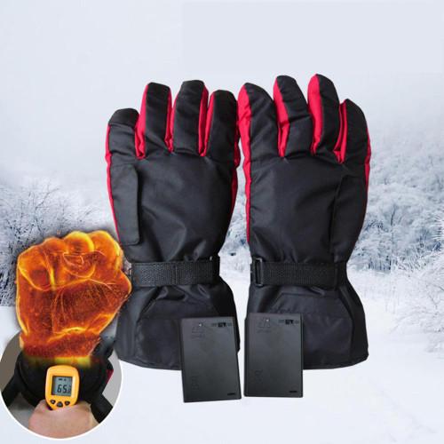 Battery Type Carbon Fiber Heating Gloves Ski
