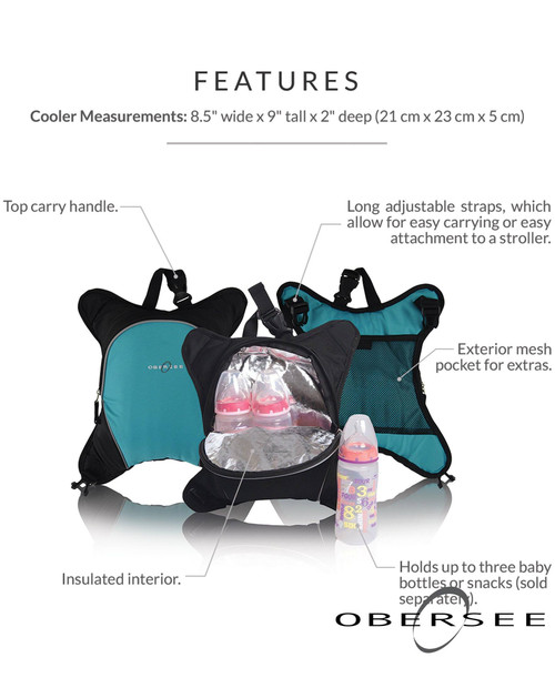 Obersee Travel Baby Bottle Cooler Bag | Attachment for Obersee Diaper