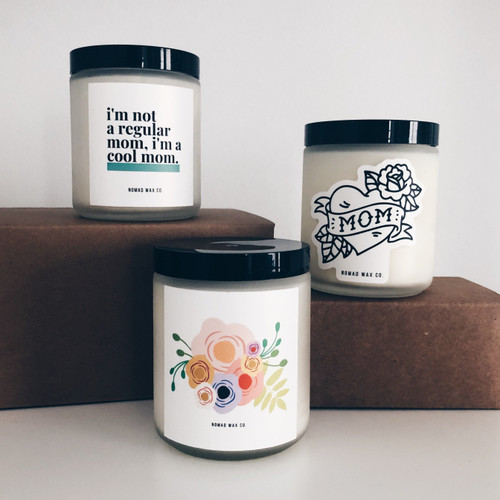 Mom Tattoo Vegan Scented Soy Candle
