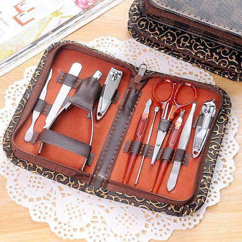 10pc Multi-function Stainless Steel Manicure Set Personal Care Tool