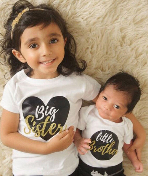 Big Sister Little Brother Matching Outfits Baby