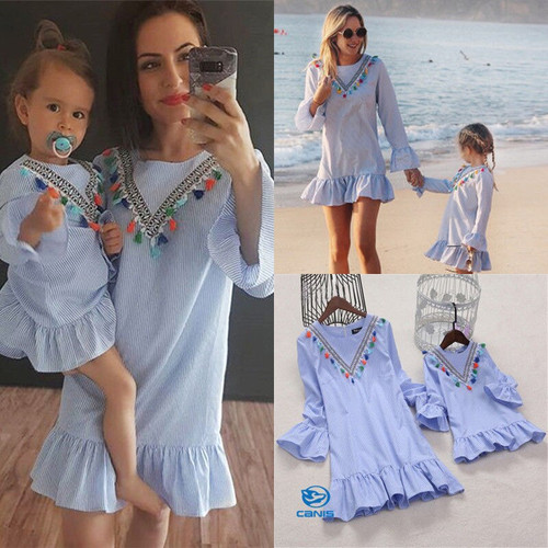 Cute Fashion Summer Family Matching Dress