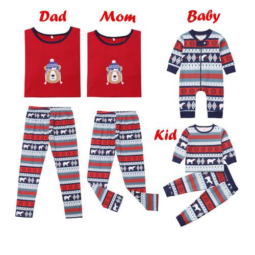 Christmas Family Matching Pajamas Outfits Set